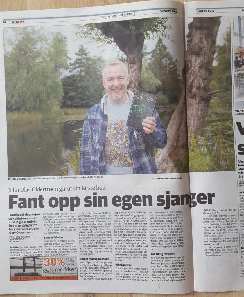 Faksimilie fra Vestby Avis (foto). Copyright: Vestby Avis